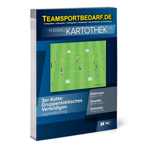 """T-PRO Kartothek 2.0 Fussball - """"3er-Kette: Gruppentaktisches Verteidigen"""""""
