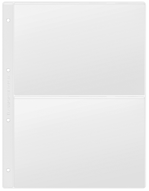 Klarsichthülle DIN A4 - für 2x DIN A5 quer