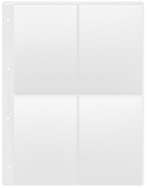 Klarsichthülle DIN A4 - für 4x DIN A6 hoch