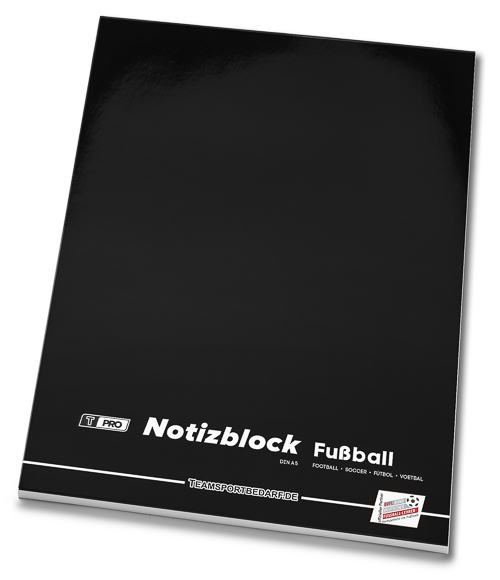 T-PRO Notepad (40 sheets) DIN A5 – Football