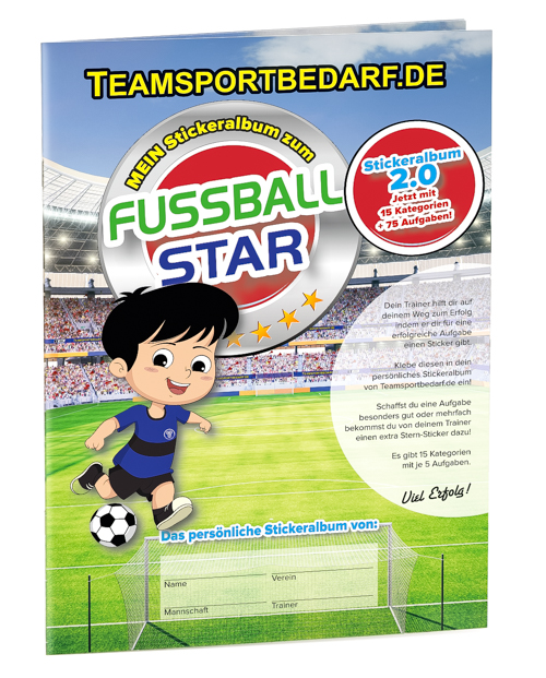Kinder Stickeralbum 2.0 DIN A4 - Fussball