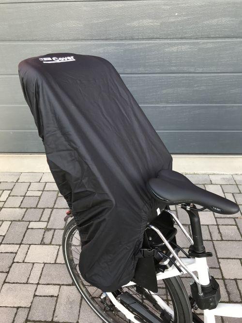 T-PRO Regenschutz (Komfort) für Fahrradkindersitz - Farbe: Schwarz