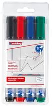 Edding 360 Board Markers, Set of 4 – assorted colours