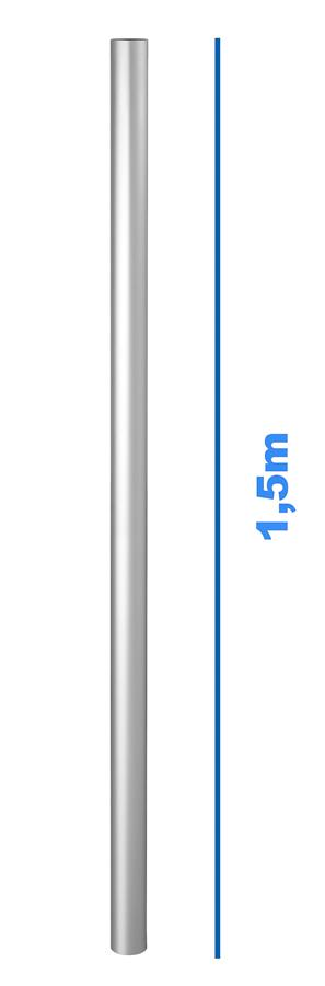 Standpfosten für Alu-Barriere - Länge: 1,50 m