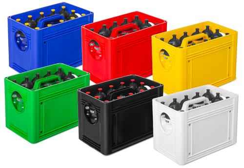 T-PRO bottlecarrier (6 kleuren) - box voor drinkbussen (stapelbaar)