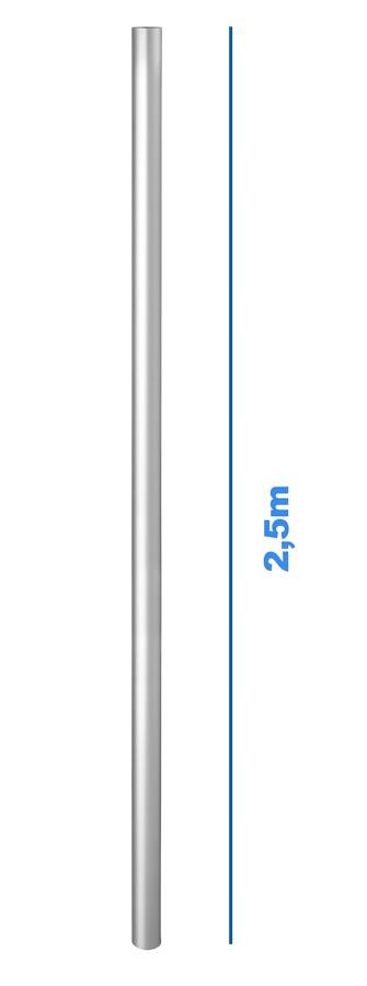Handlauf für Alu-Barriere - Länge: 2,50 m