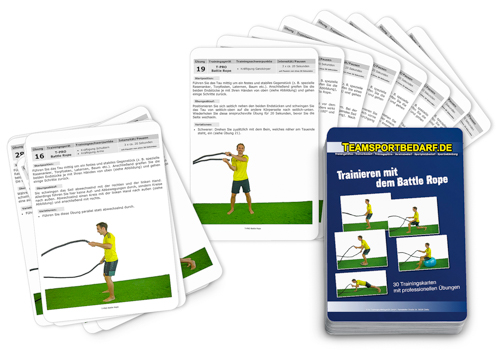 "Trainingskarten - ""Trainieren mit dem Battle Rope"" (30 Workouts)"
