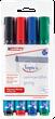 Edding 380 Flipchart-Marker (Rundspitze) 4er Set - farbig sortiert 001