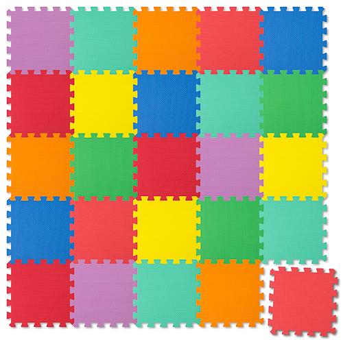 Puzzlematte (Spielmatte) 25-teilig - bunt