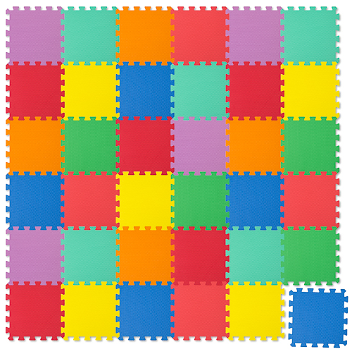 Puzzle Mat (Play Mat), 36 pieces – multicoloured
