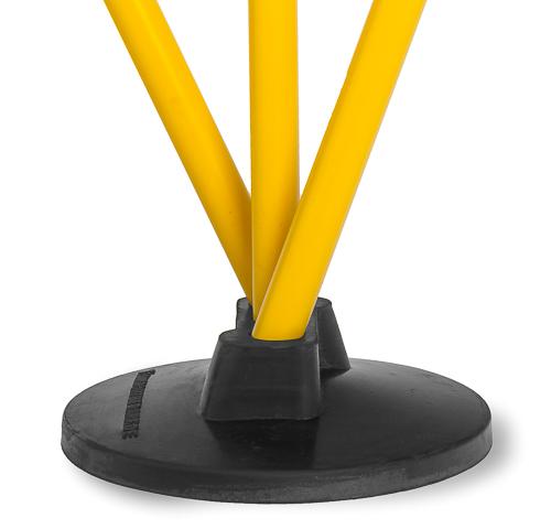 Scheibenfuß (3-Loch) - für Stangen ø 25 mm