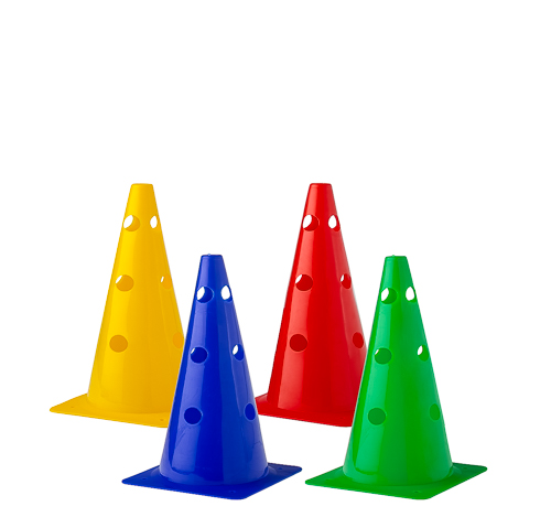 Cone with holes (4 colours) - Height: 23 cm