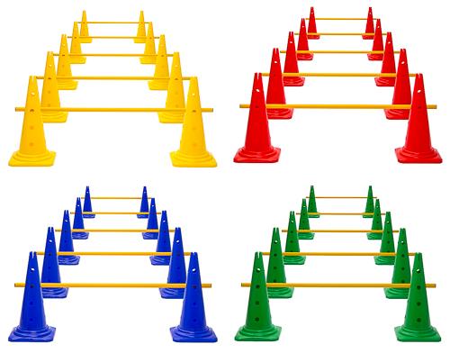 Kegelhürden (5er Set), 4 Farben - Höhe: 52 cm