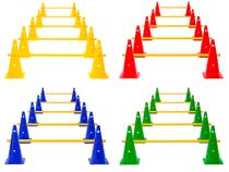 Cone Hurdles (Set of 5), 4 Colours - Height: 38 cm