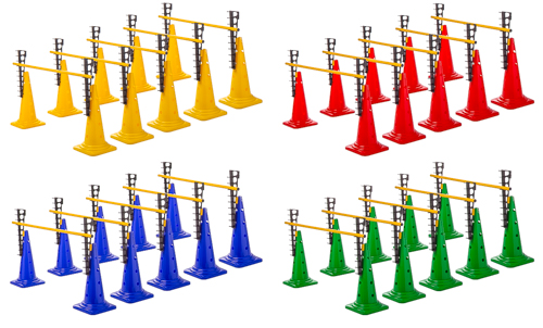 Leiterhürden (5er Set), 4 Farben - Höhe: 52 cm