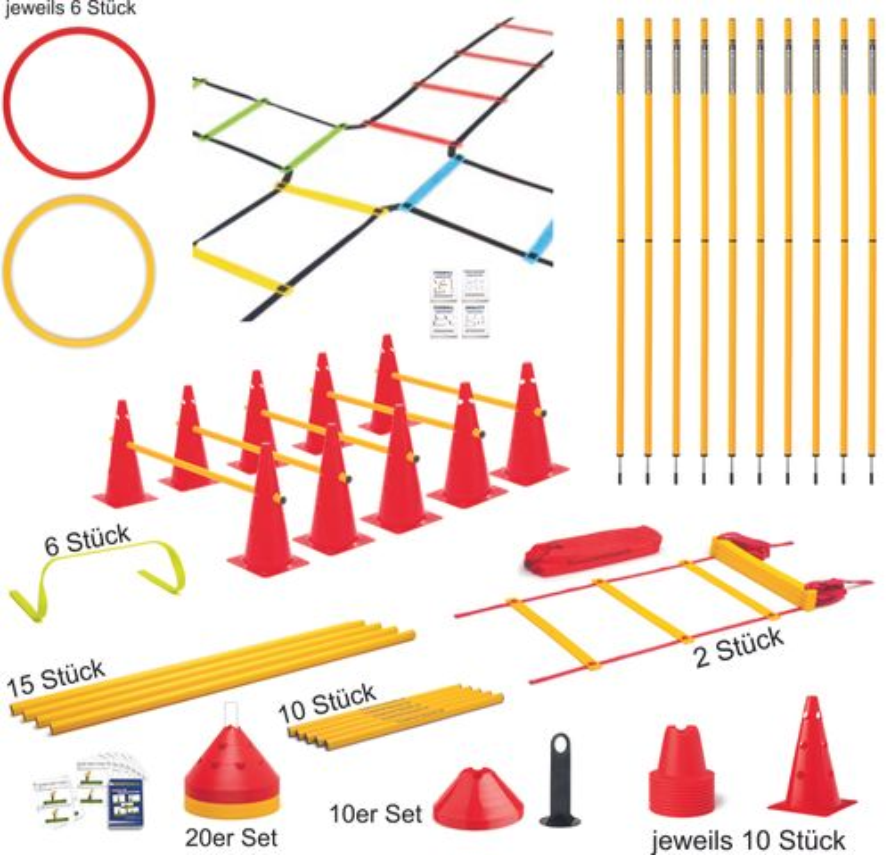 Trainingshilfen Set (groß) - Koordinationstraining