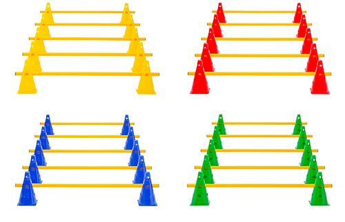 Kegelhürden (5er Set), 4 Farben - Höhe: 23 cm