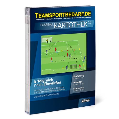 """T-PRO Kartothek 2.0 Fussball - """"Erfolgreich nach Einwürfen"""""""