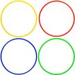 Koordinationsringe (4 Farben) - ø 70 cm