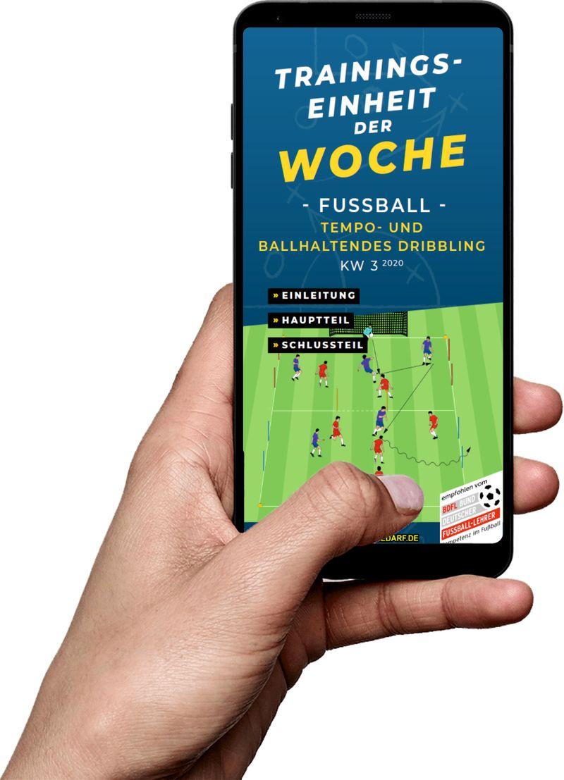 Download (KW 3) - Tempo- und ballhaltendes Dribbling (Fußball)