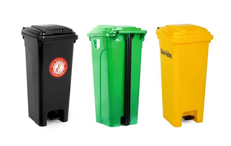 Wunschaufdruck - für Sportplatz-Mülltonne