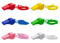Trillerpfeife (mit Lanyard) - 6 Farben