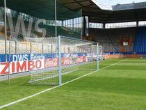Eckverschweißtes Fußballtor, Typ 1, in Hülsen stehend - Alu-Natur