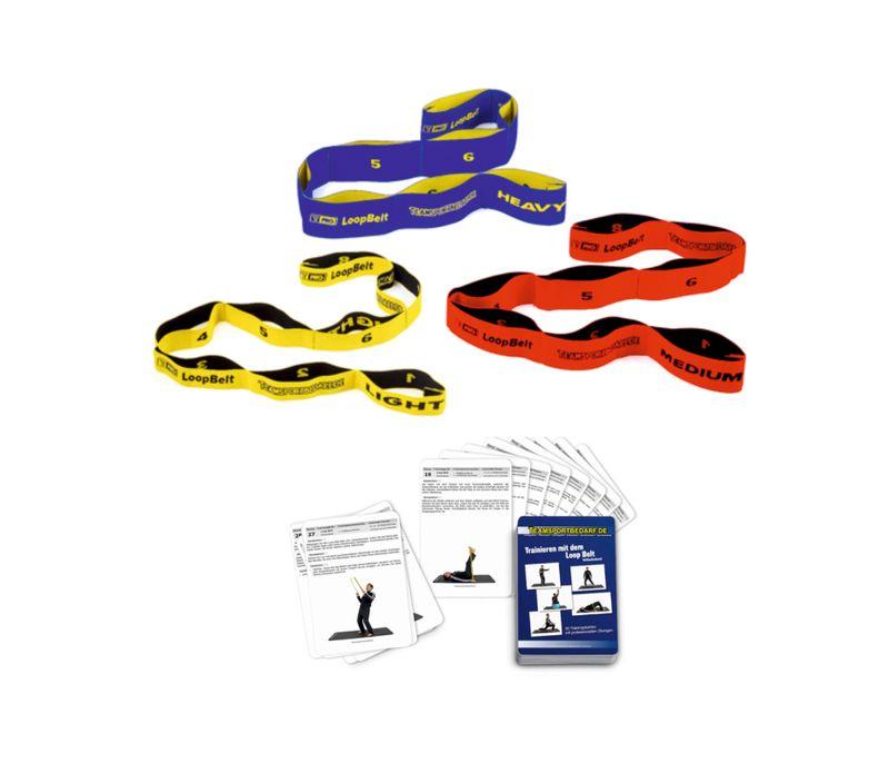 3er Set T-PRO Loop Belt (Stretchband) - inkl. 30 Workouts