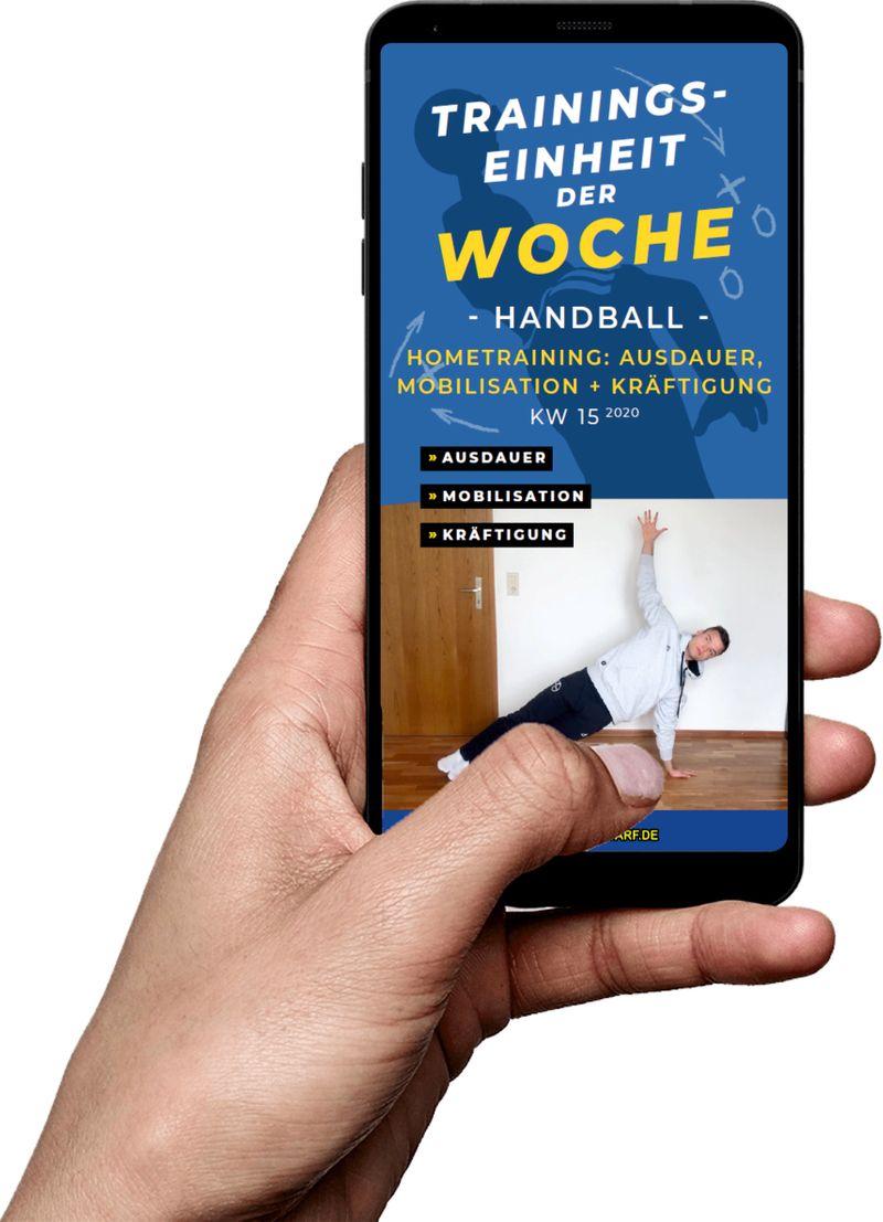 Download (KW 15) - Hometraining: Ausdauer, Mobilisation, Kräftigung (Handball)