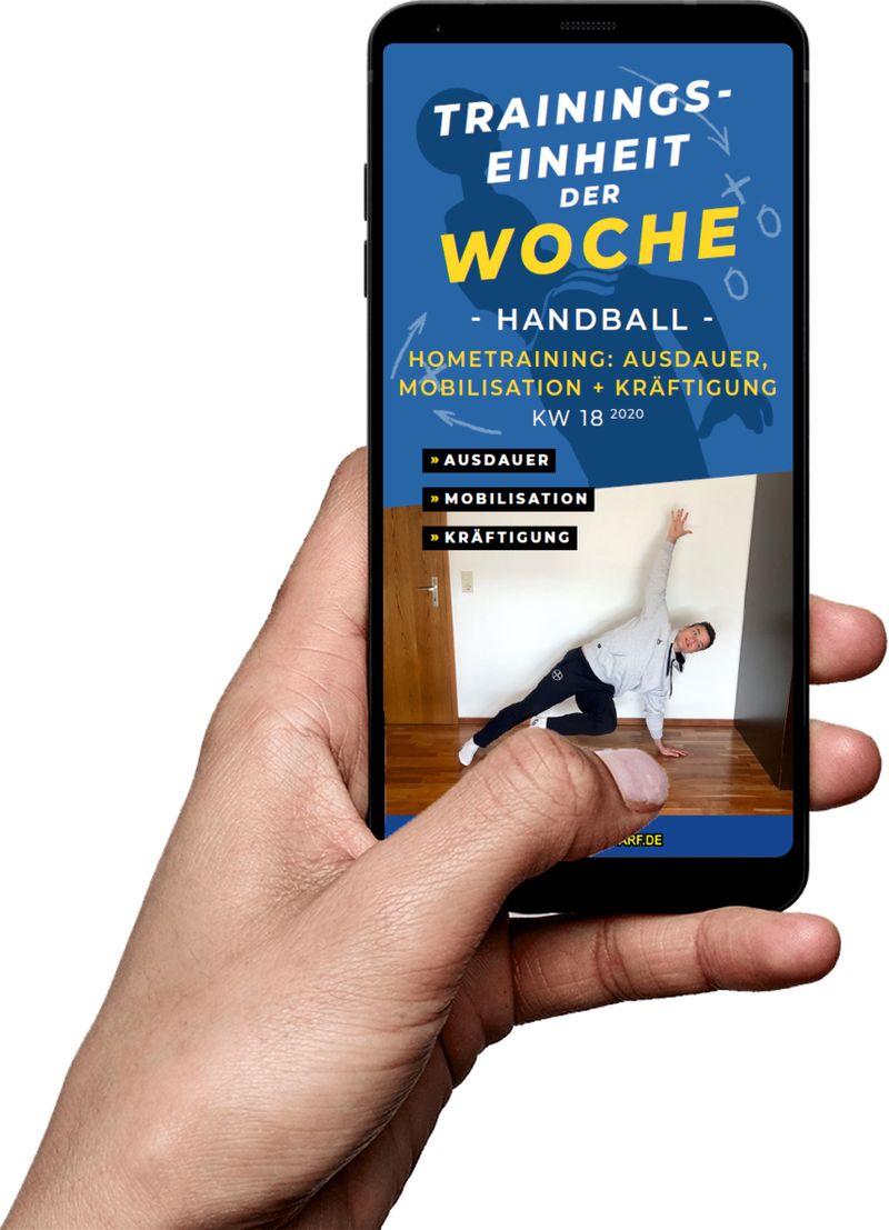 Download (KW 18) - Hometraining: Ausdauer, Mobilisation, Kräftigung (Handball)