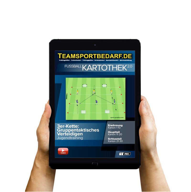 Download (60 Übungen) -  3er Kette: Gruppentaktisches Verteidigen (Fußball)