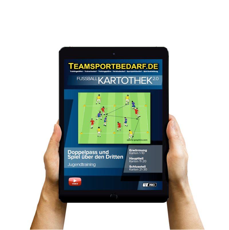 Download (60 Übungen) -  Doppelpass und Spiel über den Dritten (Fußball)