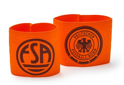 Kapitänsbinde (Junior/Senior) orange - mit Wunschaufdruck