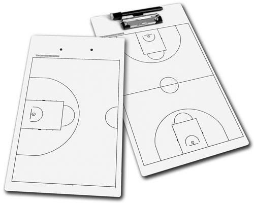 BASKETBALL - Taktikbrett (weiß)