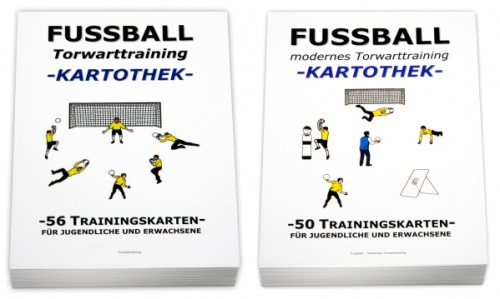 "FUSSBALL Trainingskartotheken SET - ""Torwarttraining (1.+2. Teil)"""