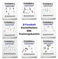 FUSSBALL - 400 Trainingskarten 8 Kartotheken SET