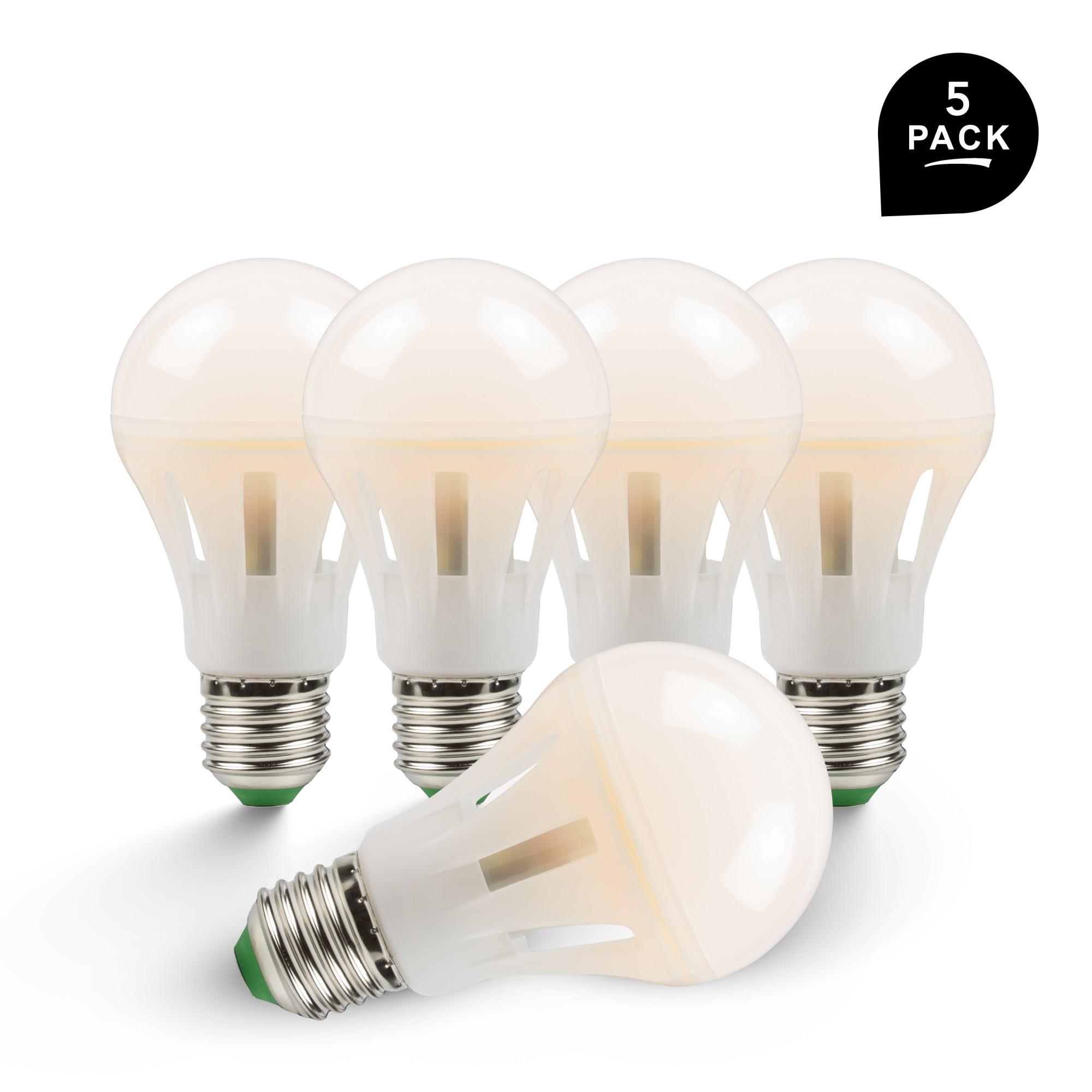 Onwijs Paket] 5 Stück LED Lampe E27 10W, 2700K Warmweiß, 360 PF-06