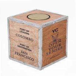Original Teekiste aus Holz - Ceylon - Vintage aus Übersee - Maße 30x30x30