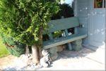 Rustikale Gartenbank aus Holz, massive Gartenmöbel Holzbank – Bild 5