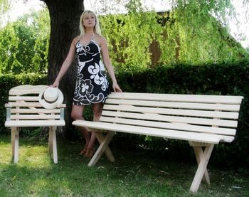 Gartenbank 175 cm breit – Bild 2