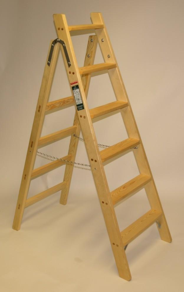 haushaltsleiter 5 stufen eine gute holzleiter doppelleitern stehleitern aus holz haushaltsleiter. Black Bedroom Furniture Sets. Home Design Ideas