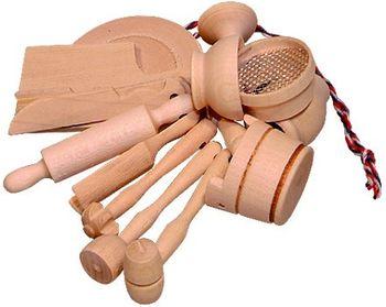 Holz Küchenminiaturen für die Puppenstube