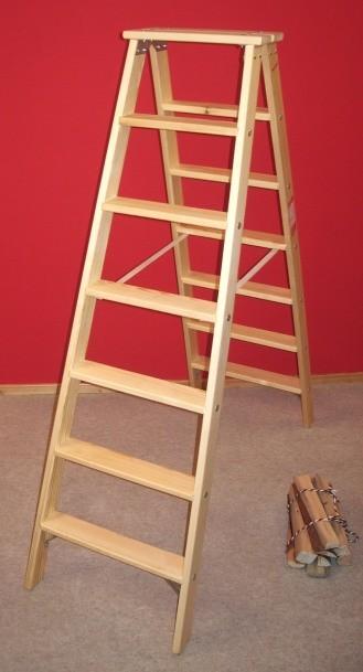 doppelleiter stil 8 stufen doppelleitern stehleitern aus holz treppenleiter doppelleiter stil. Black Bedroom Furniture Sets. Home Design Ideas