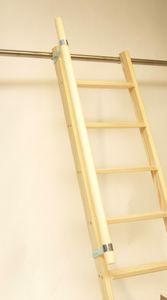 Handlauf für Parallelanlegeleiter, Hochbettleiter, Stufenleiter 0,80 m - 1,20m.