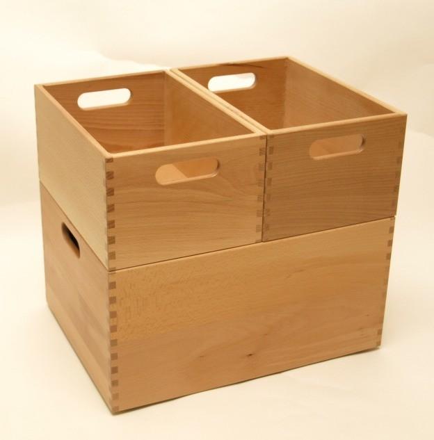 holzkiste holzbox aus buche lackiert 30 x 20 x 15 cm wohn accessoires holzkisten holzboxen. Black Bedroom Furniture Sets. Home Design Ideas