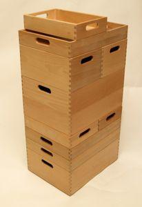 Holzkiste Holzbox aus Buche lackiert 40 x 30 x 15 cm – Bild 2