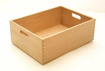 Holzkiste Holzbox aus Buche lackiert 40 x 30 x 15 cm – Bild 1