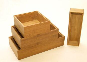 Bambus Ordnungsbox 23 x 15 x 7 cm – Bild 2