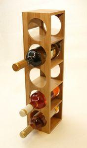 Weinregal stapelbar aus Bambus Holz 13,5 x 12,5 x 53 cm