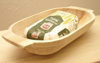 Rustikale Molle, Mulde, Backtrog handgehauen aus Holz 35 x 17 x 8 cm – Bild 2